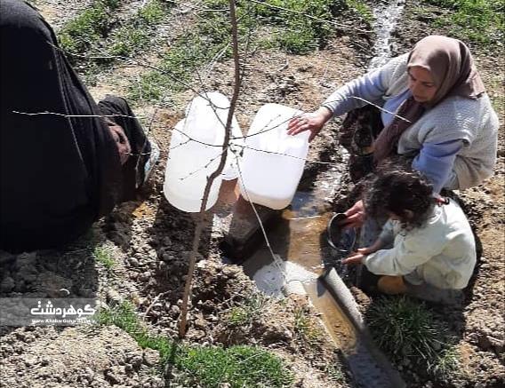 درخواست پیرزن روستای چنارک کرج برای آب آشامیدنی