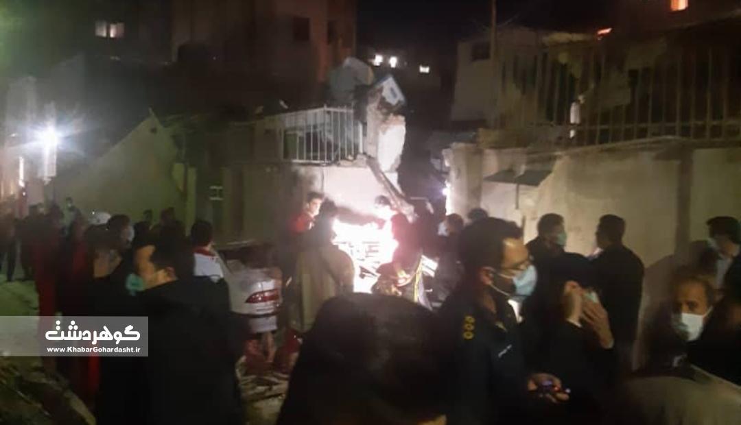 ٣کشته در انفجار ساختمان در حیدرآباد کرج