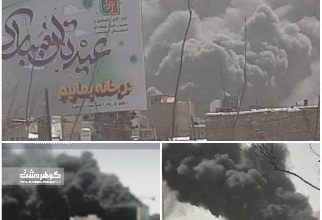 آتشسوزی ساختمان ۷ طبقه در کرج