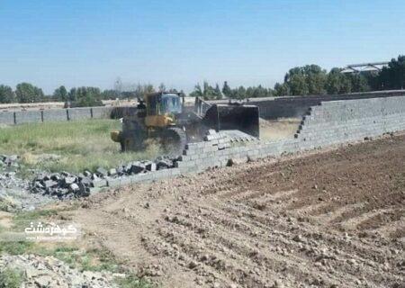آزادسازی اراضی تخریب بنای غیرمجاز درکردان